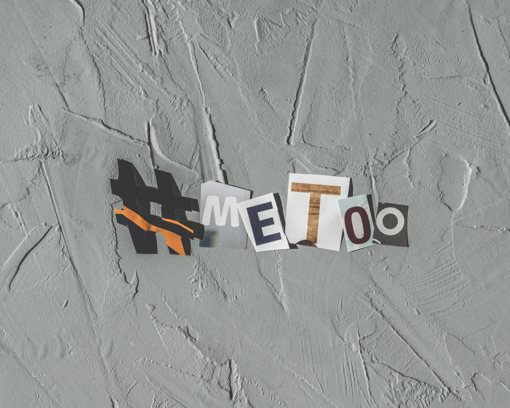 me too printed paper wall decor